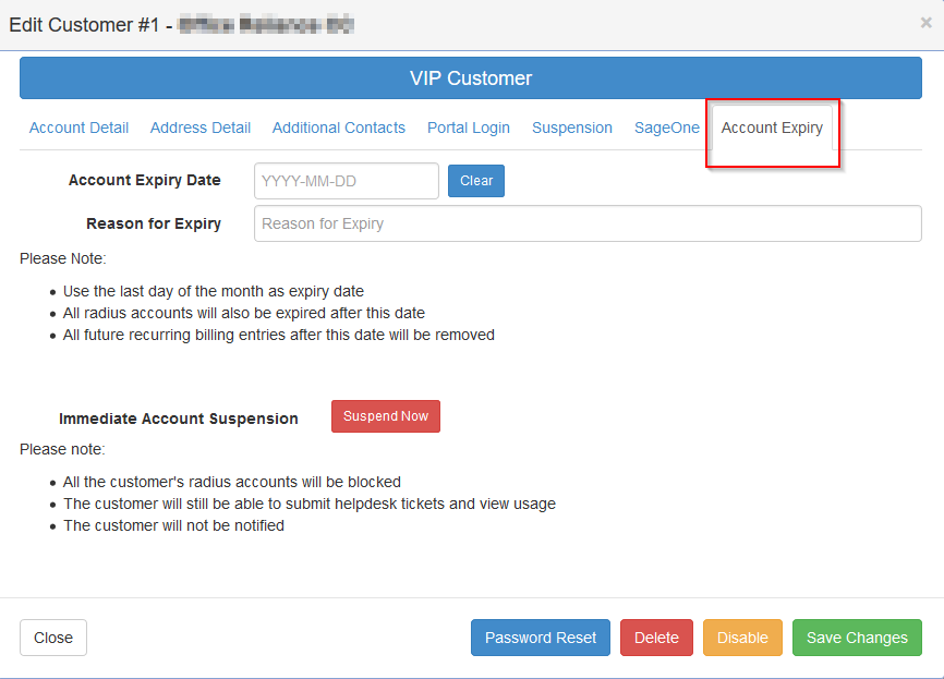 customer-account-expiry