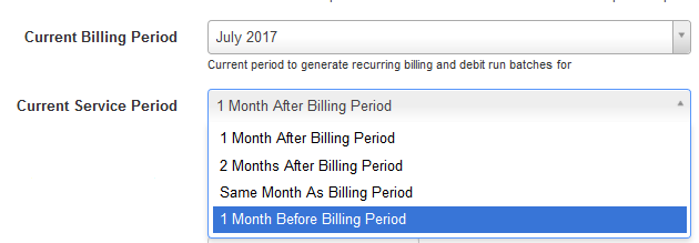 service period options