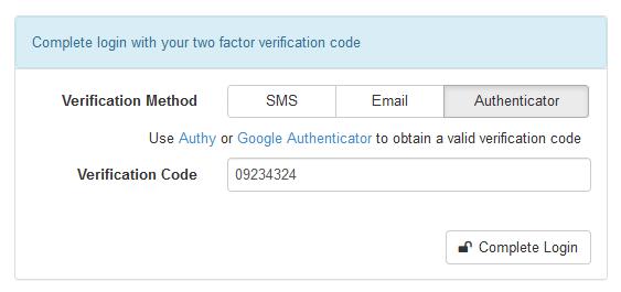 authenticator method