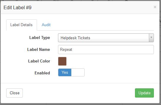 edit label
