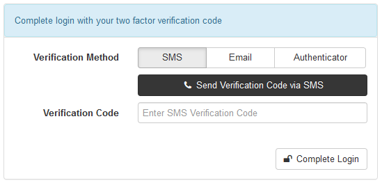 sms auth