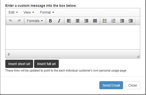 custom message rich text