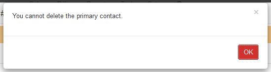 delete primary contact