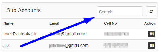 sub account search