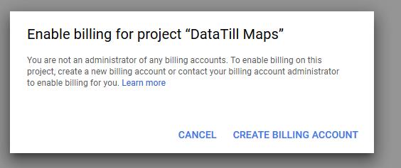 enable billing datatill maps